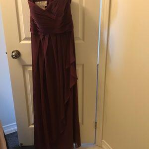 "Bridesmaids dress in ""Wine"""